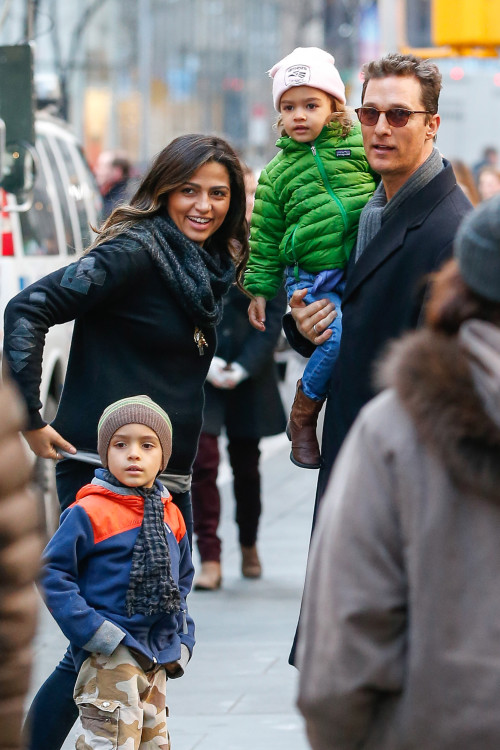 *EXCLUSIVE* Matthew McConaughey and the family visit the Rockefeller Center Christmas Tree