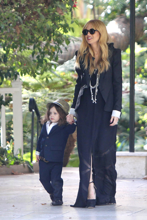 *EXCLUSIVE* Rachel Zoe takes newborn son Kai out on a Family Outing