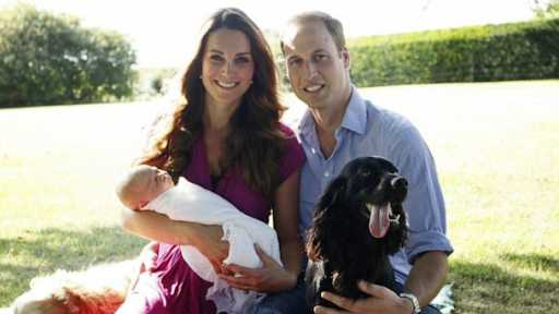 HT kate middleton prince william baby dog nt 130819 16x9 608 Kate Middletons Brother Tends the Royal Dog, Lupo