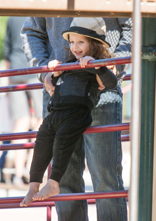 Exclusive... Rodger Berman Takes Skyler To The Park On New Years Day