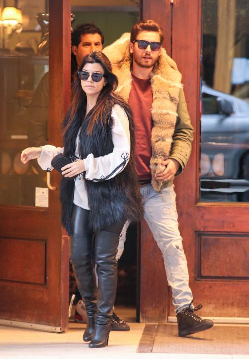 Kourtney Kardashian and Scott Disick Lunch In NYC