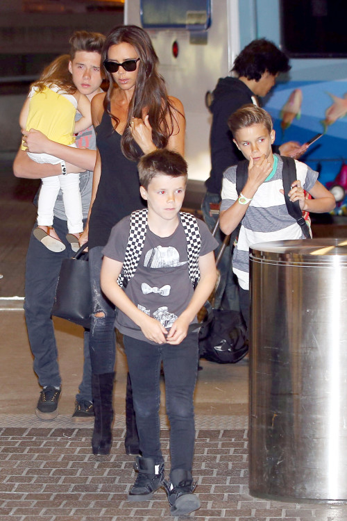 Victoria Beckham and Kids: Leaving L.A.
