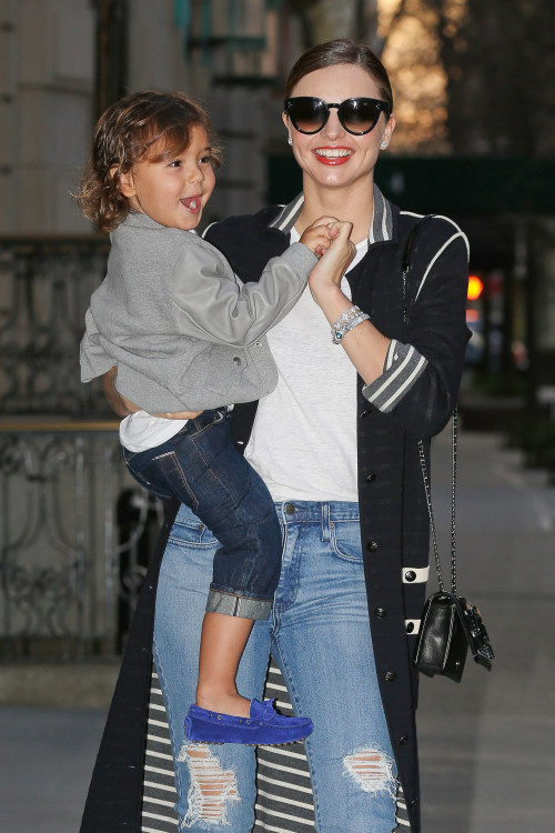 Miranda Kerr steps out with smiley Flynn just ahead of her Birthday