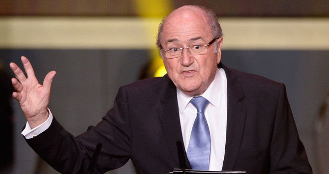 Blatter on racism sanctions