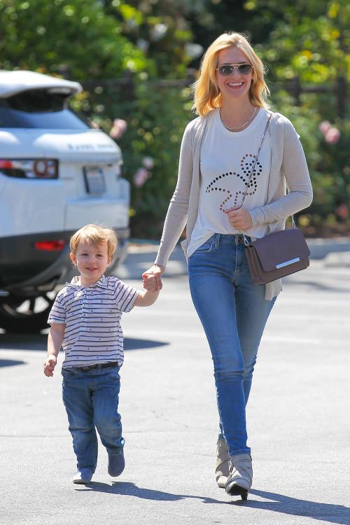 January Jones and Xander: All Smiles