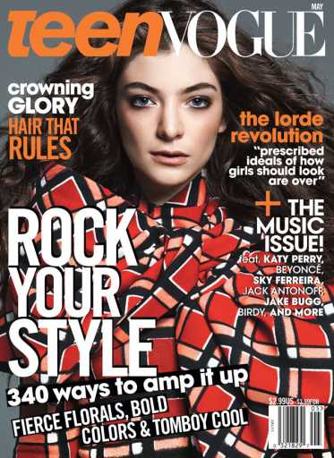 Lorde covers May 2014 Teen Vogue