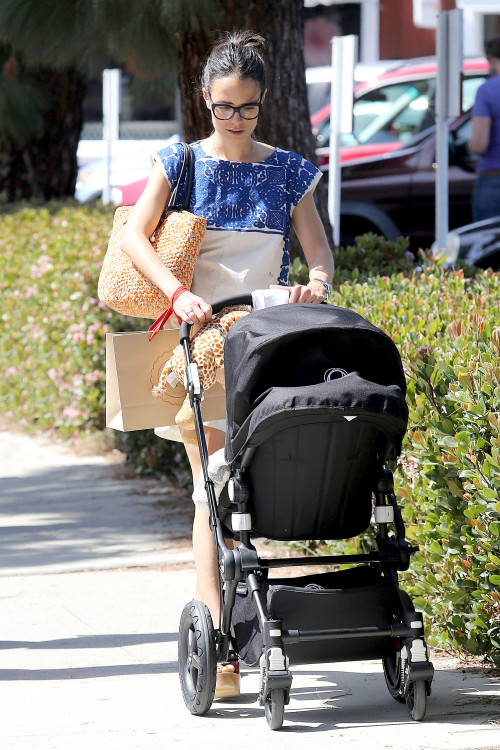 Jordana Brewster Steps Out With Son