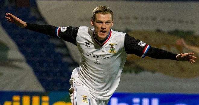 Billy McKay: Celebrates scoring the winner against Ross County