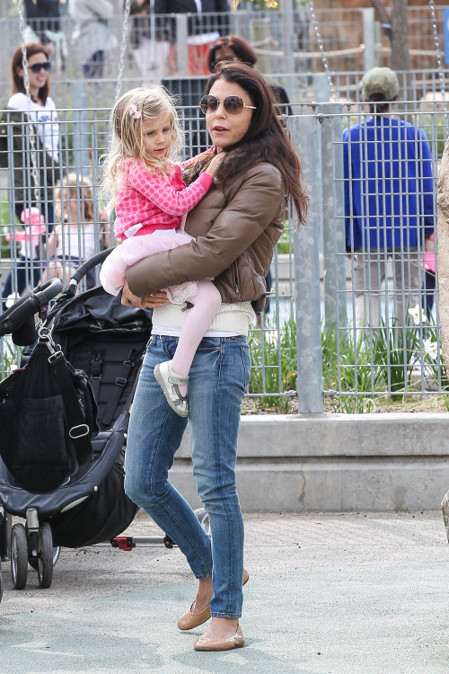 Bethenny Frankel and Bryn spend some time at the park
