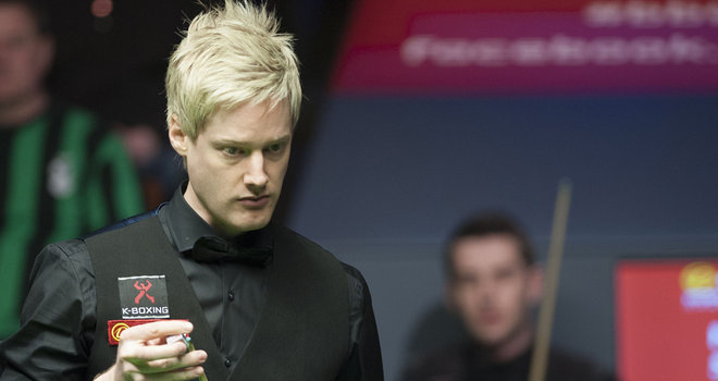 Neil Robertson: won five of the eight morning frames