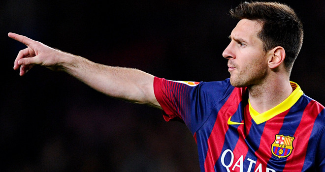 Lionel Messi: Signs new Barcelona contract.