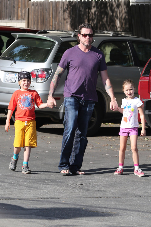 *EXCLUSIVE* Dean McDermott starts his day early with his kids