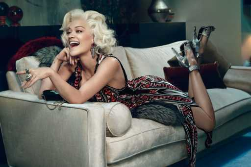 Rita Ora Channels Marilyn Monroe In a Roberto Cavalli Photoshoot