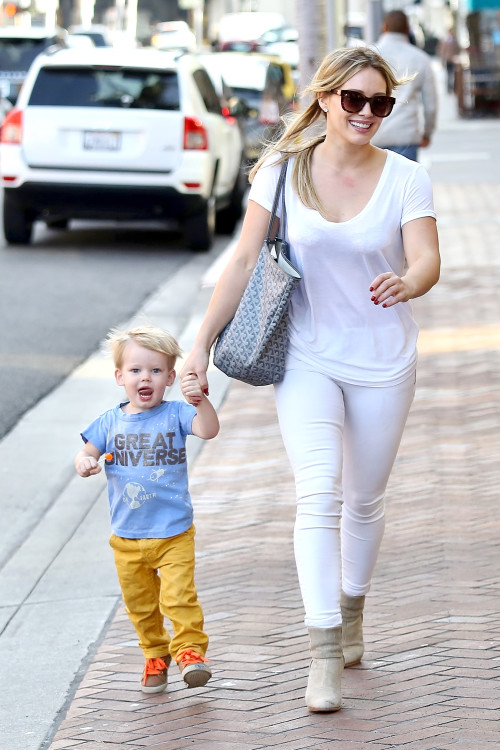 Hilary Duff and Luca are an Excited Mother-Son Duo **USA, Australia, New Zealand ONLY**