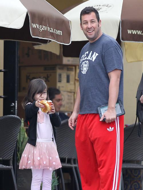 Semi-Exclusive... Adam Sandler Takes His Daughter To Breakfast