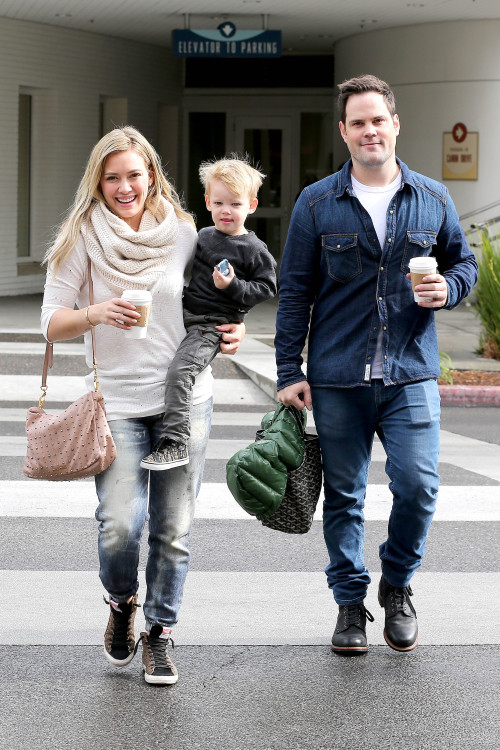 Hilary Duff and Mike reunite again for a Family Breakfast with Luca