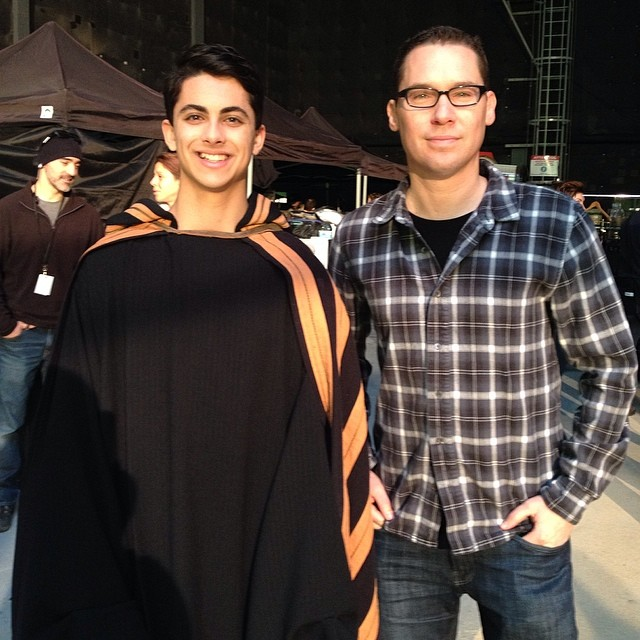with the director, Bryan Singer, after filming my scene #xmen #days #of #future #past #actor #post #credit #scene #fame