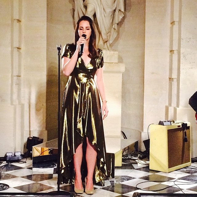 Magnificent voice @lanadelrey #kardashian #versailles #fun #wedding #reallove