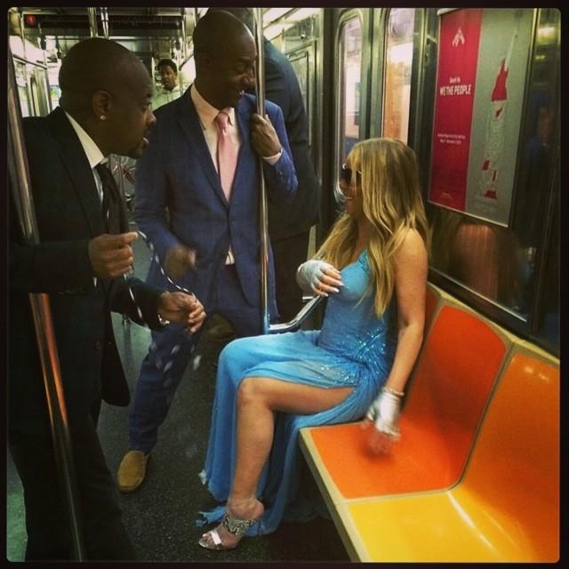 Laughs pon de subway