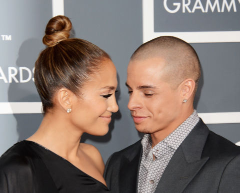 Caseper Smart/ Jennifer Lopez at Grammys