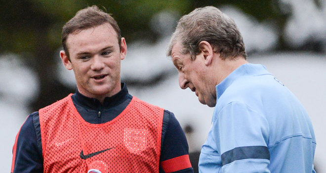 Roy Hodgson: Has defended Wayne Rooney after England's win over Peru