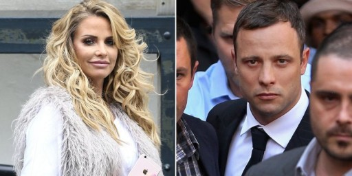 Katie Price Claims South African Athlete Oscar Pistorius Messaged Her During Trial