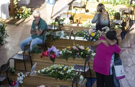 Families Bury Earthquake Victims With Tears In Italy