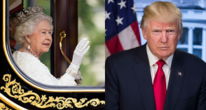 donald trump and queen