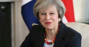 theresa may travel security breach