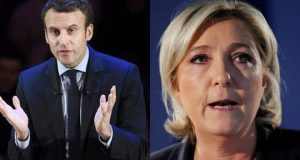 Centrist Macron, Far-Right Leader Le Pen