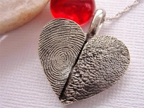 Separation from a loved one - fingerprint jewellary