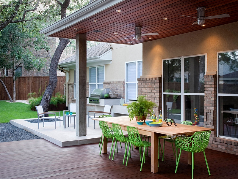 Add an outdoor space kitchen or dining area