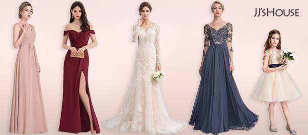 JJ's House Perfect solutions for a stunning wedding party dress