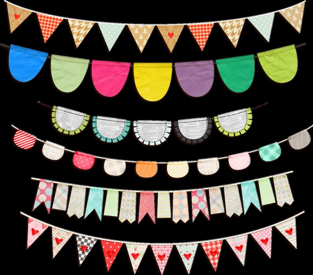 Fabric bunting 5 Brilliant Ways to Upcycle Fabric Scraps