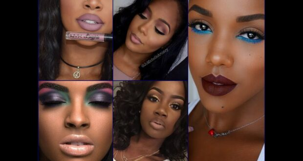 Holiday makeup look for African-American skin